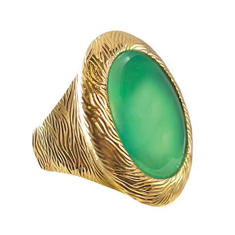 Green Chrysoprase Ring 15 green chrysoprase ring silverhorn jewelers santa barbara