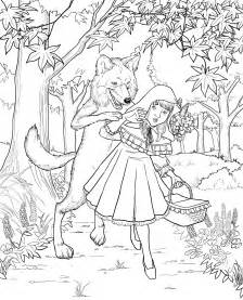 red riding hood printable coloring pages