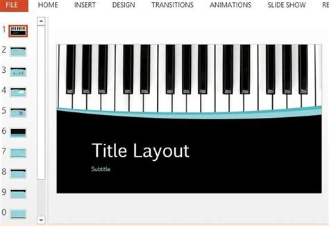 keyboard tutorial ppt musical curves powerpoint template