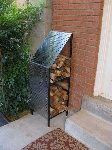 funky wood firewood storage rack funky steel