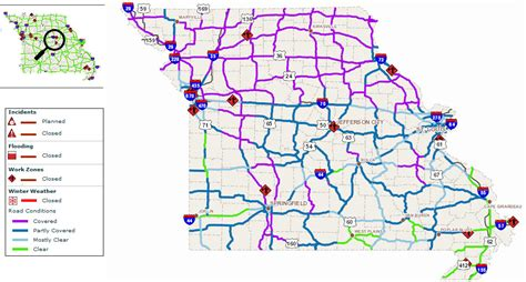 road conditions map modot road conditions daily postal