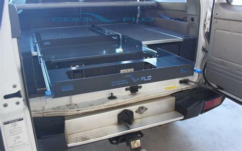 new nissan patrol top rear drawers storage cargo