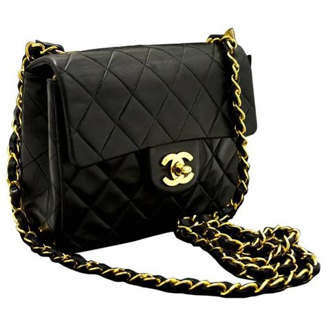 Black Quilted Chanel Bag With Chain by Chanel Mini Small Chain Shoulder Bag Crossbody Black