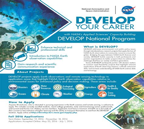 Remote Mba Internship Fall 2016 nasa develop national program fall 2016 internship