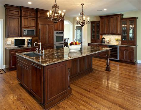 knotty pine cabinets granite counter top traditional cherry wood kitchen cabinets with black granite brown