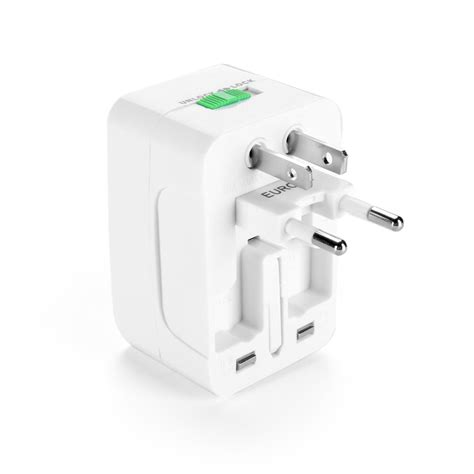A6067 Hoco Universal Travel Socket Charger Power Adapter Ac1 all in one universal travel wall charger ac power adapter au uk us eu white