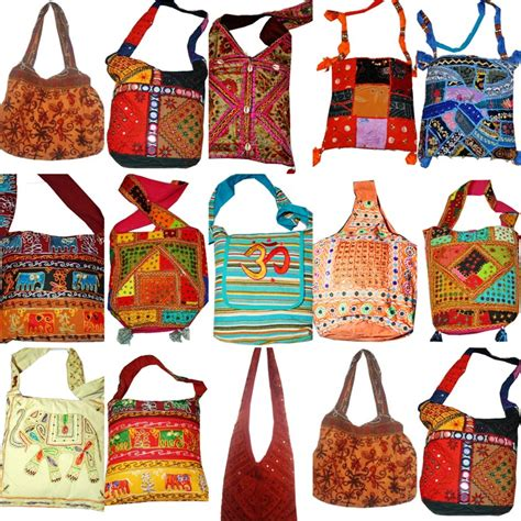 Handmade Embroidered Bags - bohemian boho embroidered handmade indian handbags slings