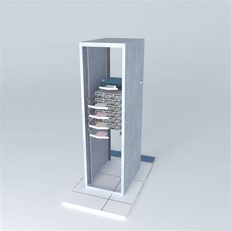 Airing Cabinet by Data Center Cabinet Air Flow 3d Model Max Obj 3ds Fbx