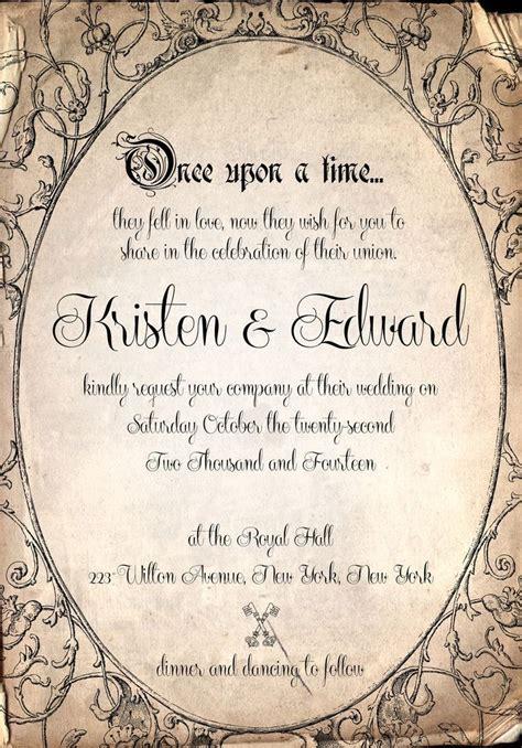 time on wedding invitation storybook fairytale once upon a time wedding invitation by