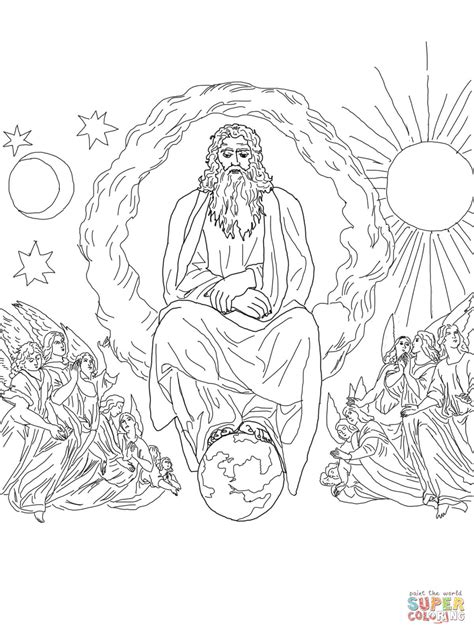 Bible Coloring Pages Coloring Pages And Coloring On Pinterest 7 Days Of Creation Coloring Pages