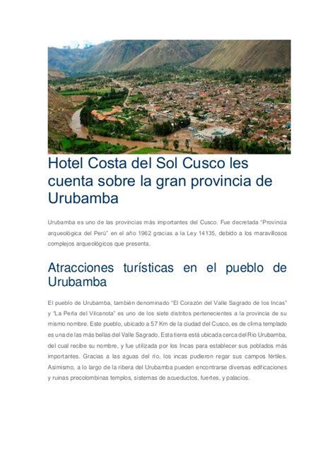 Mba Cus Groups by Hotel Costa Sol Cusco Les Cuenta Sobre La Gran