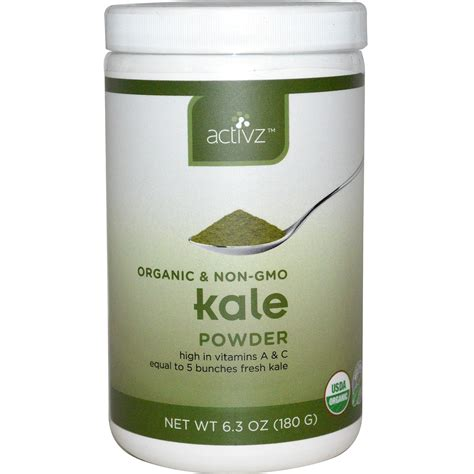 Activz, Organic Kale Powder, 6.3 oz (180 g)   iHerb.com