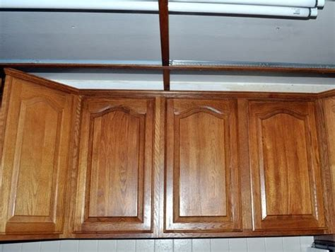 how to fill gap between cabinet and ceiling gap between cabinets and ceiling