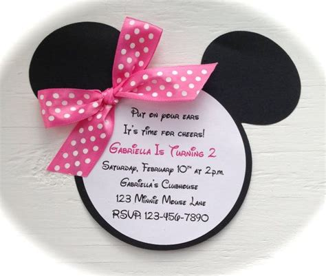 Minnie Mouse Handmade Invitations - reserved for quot happy 1st birthday quot princess