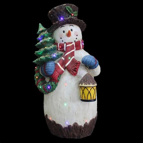 snowman decorations for the home national tree company 36 in pre lit snowman decoration bg