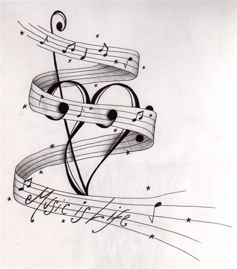 music staff tattoo designs simson