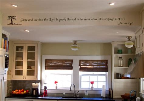Psalm 348 on kitchen soffet walltowallstencils.com