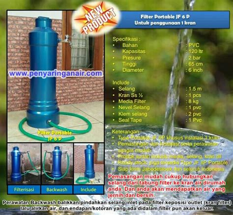 Filter Air Nico Filter Kran Air Media Filter Air Kotor Dan Keruh 10 filter air portable diameter 6 dan 8 inci pvc filter penyaring air
