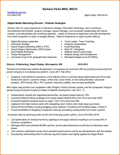 social media marketing resume sle 28 images community
