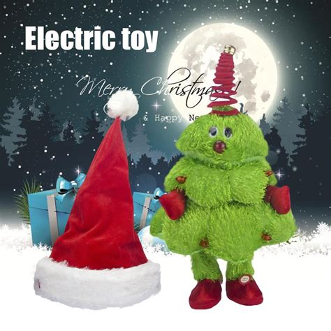 dancing christmas tree hat singing and tree moving hat electric children s toys