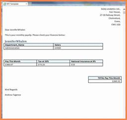 Payslip Templates by 5 Basic Payslip Template Word Salary Slip
