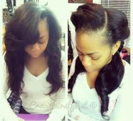 weave no leave out hairstyle brazillian sew in with leave out weave pinterest