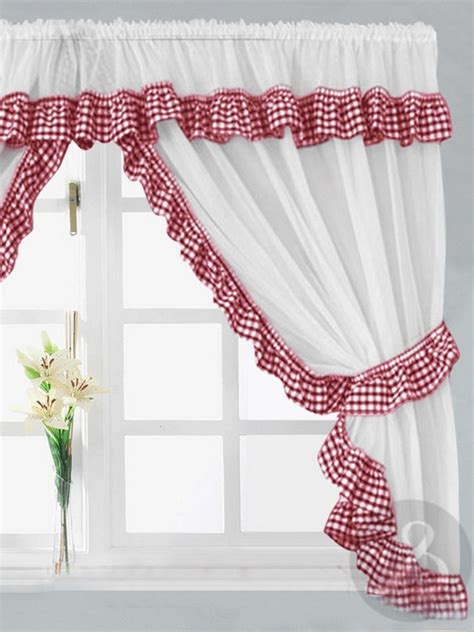 red and white curtains for kitchen red black and white kitchen curtains