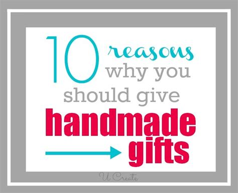 10 reasons why you should give handmade gifts u create