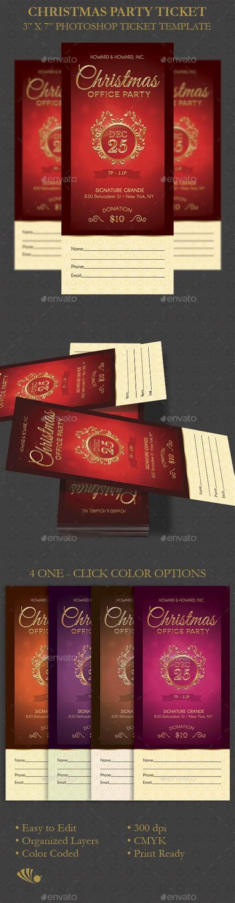 christmas party ticket template ticket template photoshop and