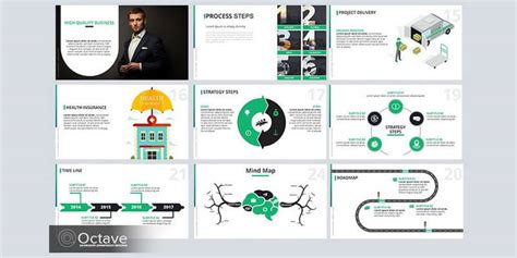 Free Infographic Powerpoint Template 20 Slides Bypeople Infographics Template Powerpoint