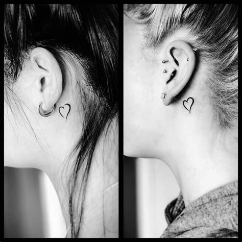 heart tattoo behind ear 40 inspiring tiny ear tattoos that make you say i need this