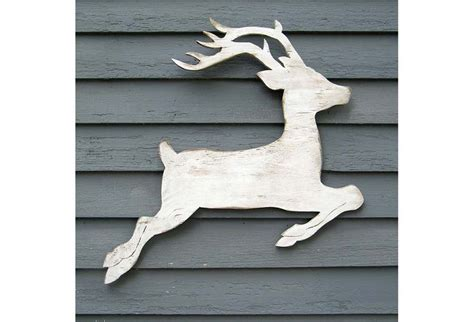 Pattern For White Wooden Reindeer | white wooden reindeer pattern woodworking projects plans