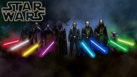 wars colors lightsaber colors and meanings canon wars