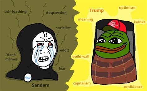 Trump Pepe Memes - trump vs sanders donald trump know your meme