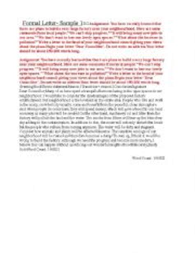 Formal Letter Igcse Worksheets Igcse Esl Formal Letter Sle