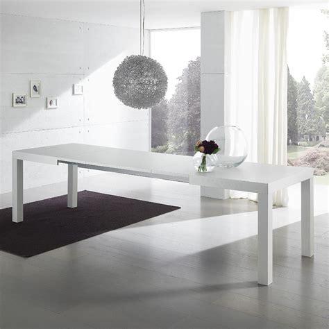 tavoli da pranzo moderni allungabili tavolo da pranzo midnight allungabile in legno bianco o
