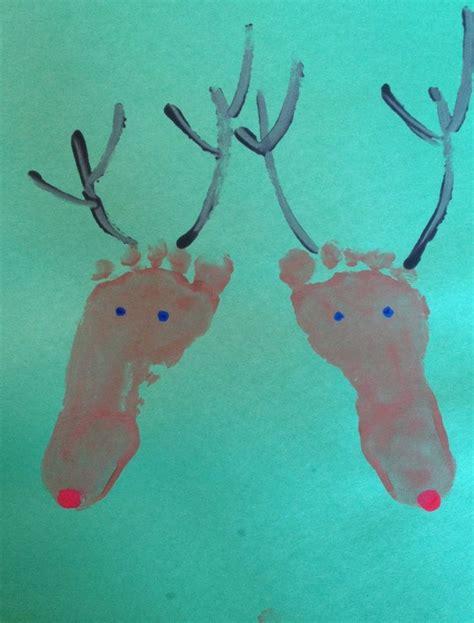 winter solstice crafts for winter solstice crafts for reindeer footprint