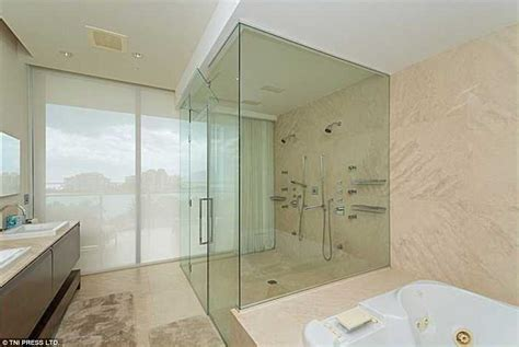 steamy bathroom michael caine s luxury miami apartment goes up for sale