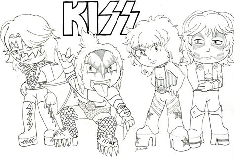 image gallery kiss band coloring