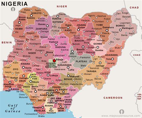 political map of nigeria ezilon maps free nigeria political map political map of nigeria