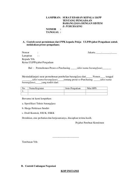 Contoh Surat Permintaan Pengadaan Barang by Contoh Surat Pesanan Pengadaan Barang Pemerintah