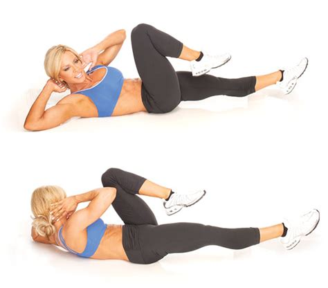 bicycle crunches   core exercise   ace