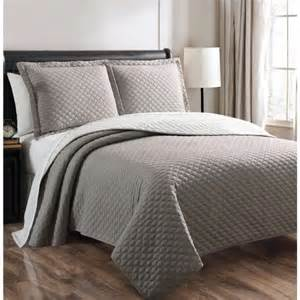 Bedspreads king size reversible quilt bedspread set in gray white