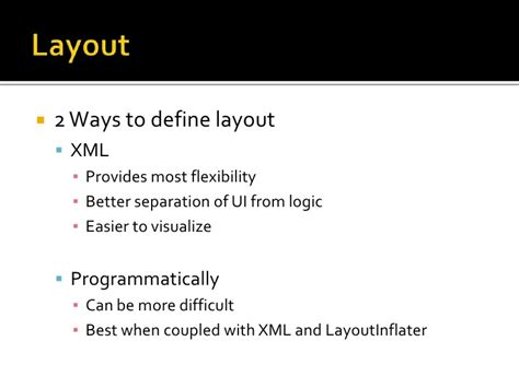 define layoutinflater in android getting dirty with android