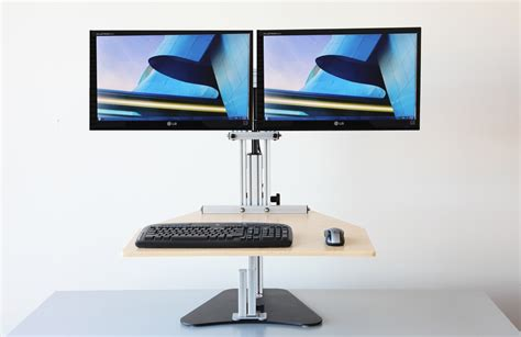 adjustable height monitor stand for desk minimalist desk
