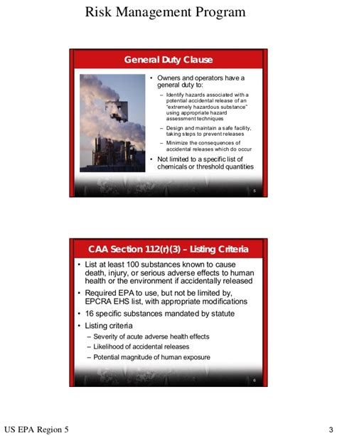 clean air act section 112 r applicability of caa section112 r general duty clause