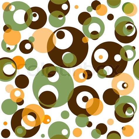 Brown Green Pattern | abstract seamless pattern with translucent brown and green