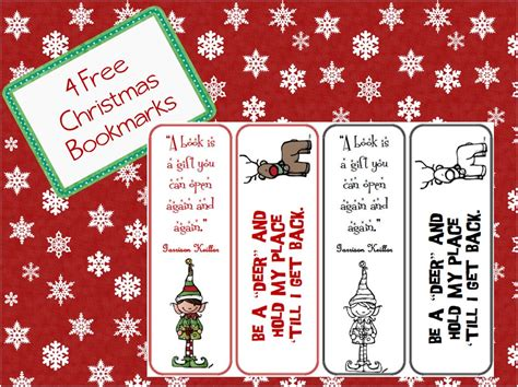 printable bookmarks for christmas the book bug christmas bookmarks