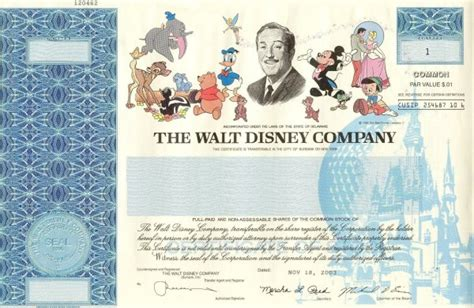 printable disney gift certificates buy one share of disney stock for a unique gift