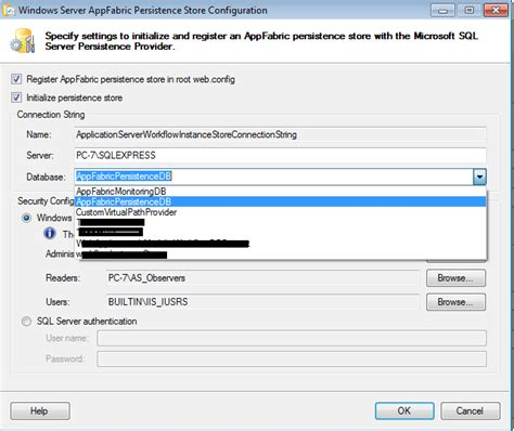 workflow persistence the execution of an instancepersistencecommand was